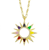 Enamel Large Starburst Forse Chain Necklace