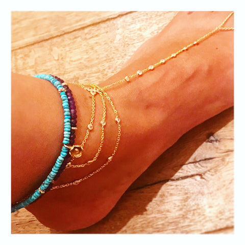 SALE Draped Footbracelet