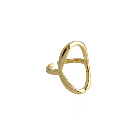 Adjustable Oval Hollow Ring