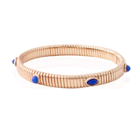SALE Gold Thin Springs Gem Cuff