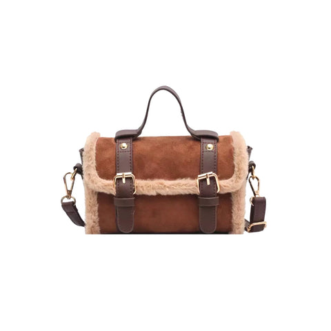 Shearling Style Chestnut Mini Bag