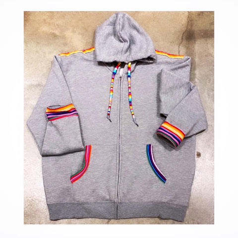 A. NATION Custom Grey Hoodie