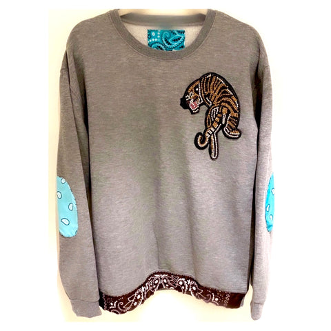 Beaded Tiger Sweat-shirt