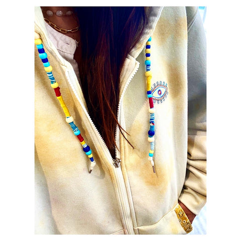 Light Yellow Mix Mini Eye Tie Dye Hoodie