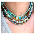 6 Oval Turquoise Custom Beaded Necklace