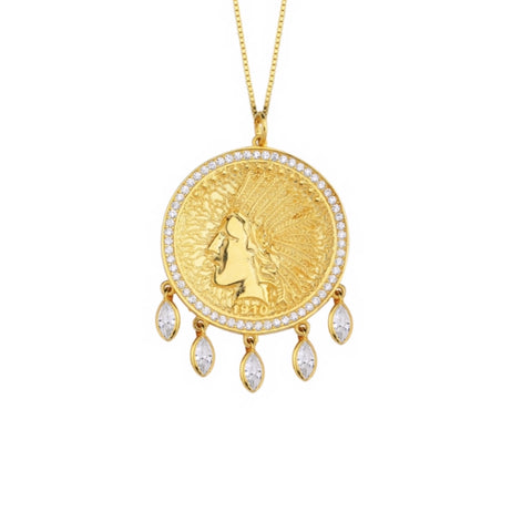 Fringes Indian Coin Necklace