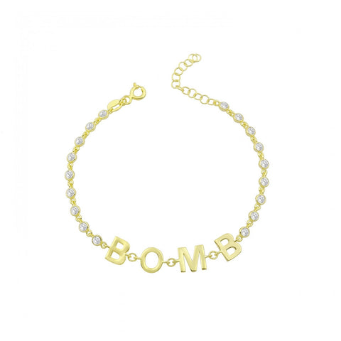 By the Yard Polished Name Bracelet