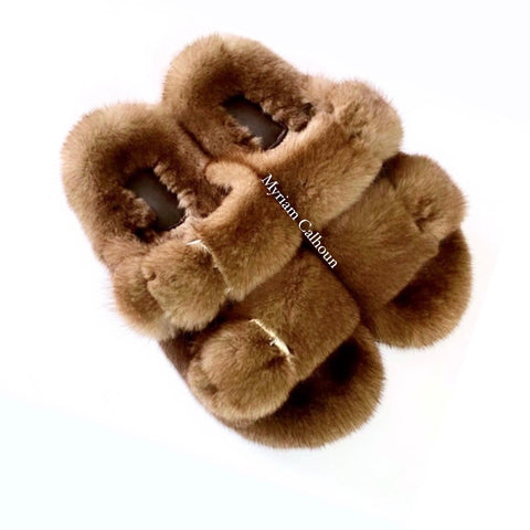 Chestnut Brown Arizona Slippers