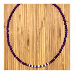 Amethyst & White Rondelles Necklace