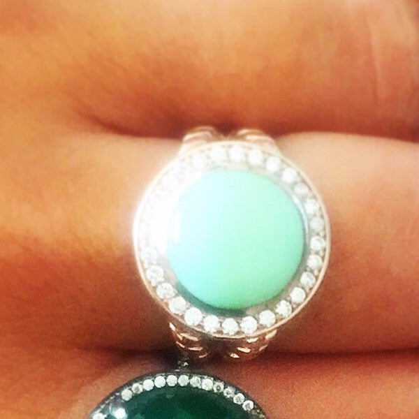 SALE Green Cocktail Ring