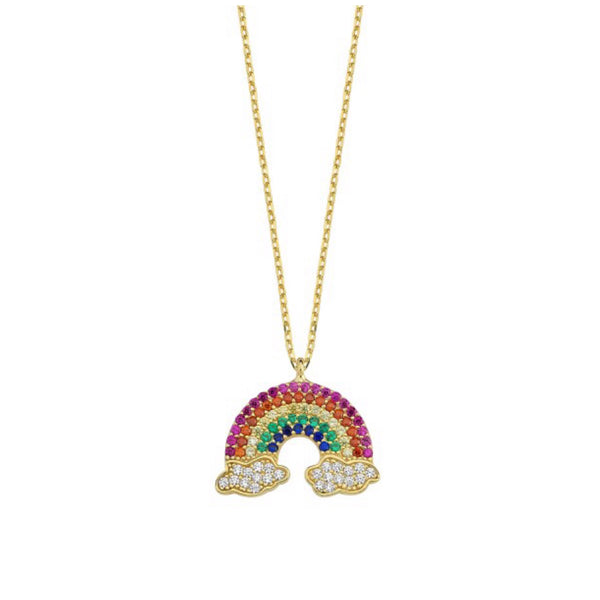 Rainbow Bright Arch Necklace
