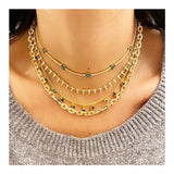Pave Spikes Necklace