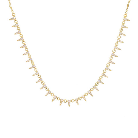 Collier Pave Spikes