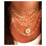 Rectangular Links Chain Necklace