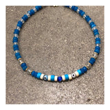 Protective Eyes Blue Agates Anklet