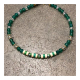 Protective Eyes Green Agates Anklet
