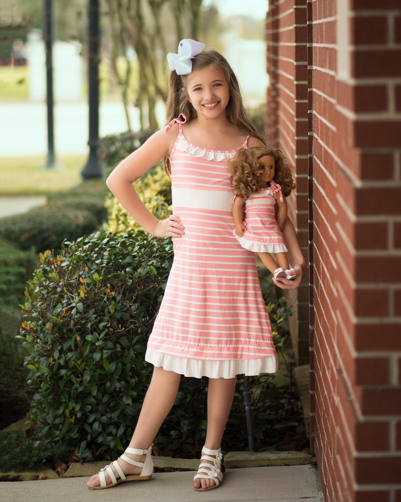 Celia dress - Strawberries and Cream 4, 6, 8, 10, 12