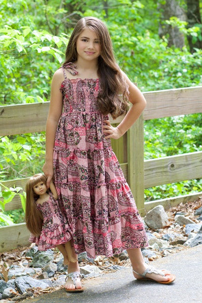Gypsy dress with ruffle armbands
