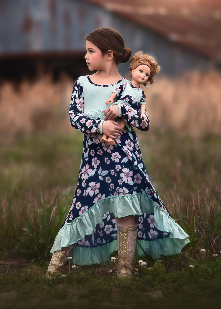 Clara Dress - Flowers in the Fields 4, 6, 8, 10, 12