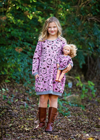 Jumper Dress -Purple Dream Catchers 4, 6, 8, 10, 12