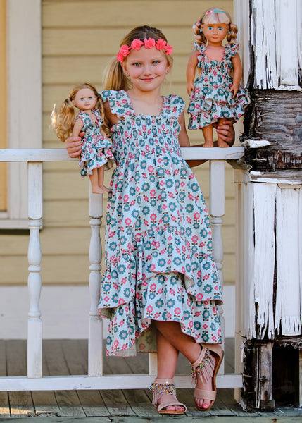 Angel dress - Pistachio Fun size 4, 6, 8, 10
