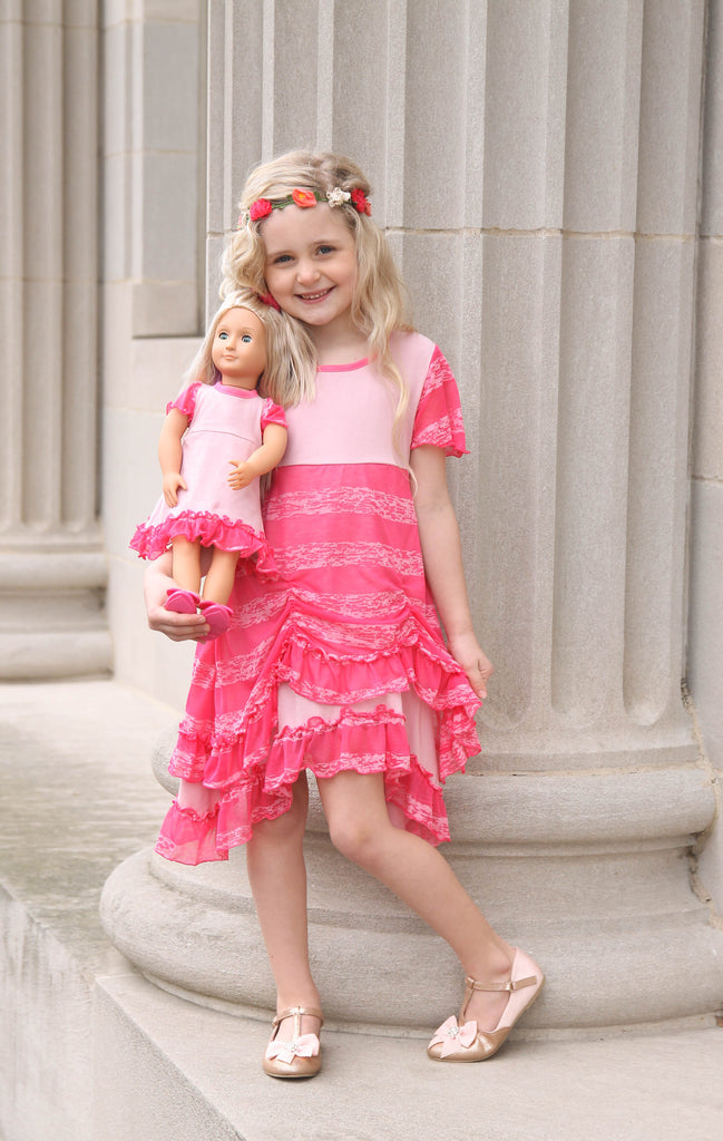 Scarlett dress - Pink Marshmallow size 6, 8, 10, 12