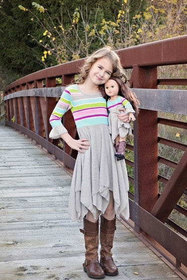 Pixie Pia dress - Rainbow Stripes
