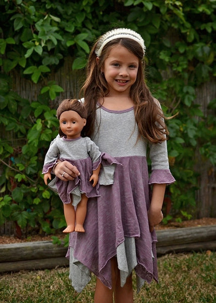 Pixie Pia dress - Mauve & Grey