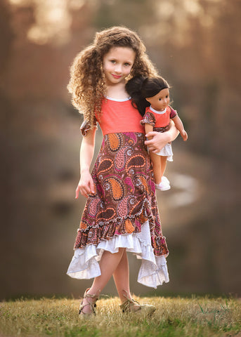 Isabella Dress - Bohemian Princess size 4, 6, 8, 10, 12
