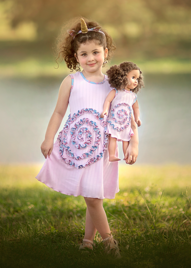 Shelley Dress - Pink Swirl sz 4, 6, 8, 10, 12