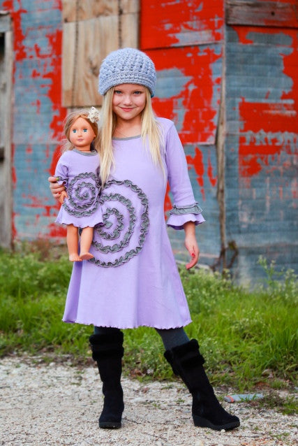 Shelley dress - Purple Sun