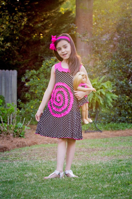 Shelley dress - Polkas & Pink
