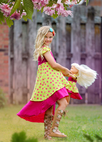 Alice Dress - Pink Lemonade size 4, 6, 8, 10, 12