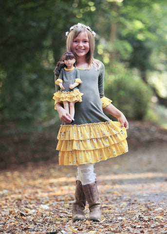 Nina dress - Sunflower Fields sz 4, 6, 8, 10, 12