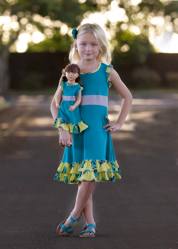 Kathy Dress - Pineapple Fun 4, 6, 8, 10, 12