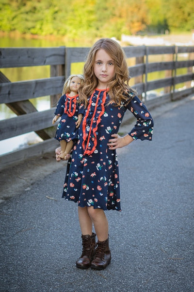 Ella dress - Fall Flowers