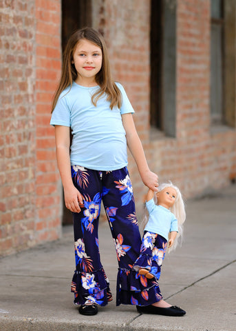 Leslie Pants - Hawaiian Blue  4, 6, 8, 10, 12, 14