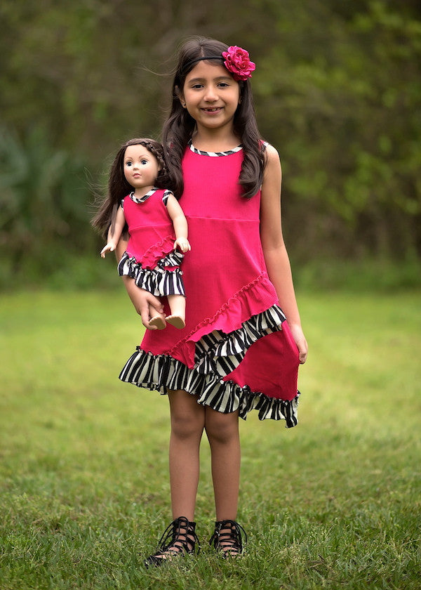 Amelia dress - Strawberry Popsicle size 4, 6, 8,10, 12