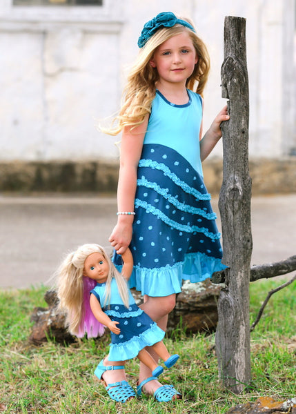 Emma Dress - Dots and Scribbles size 4, 6, 8, 10, 12