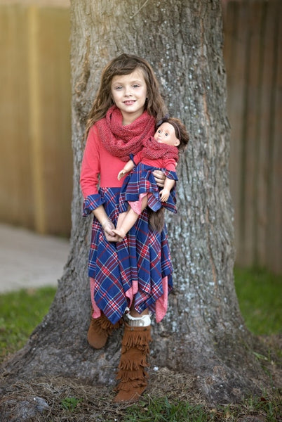 Pixie Pia dress - Christmas Plaid