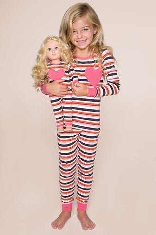 Love Note PJ - Pink Stripes size 10, 12
