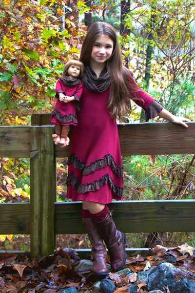 Judy dress - Chocolate Plum