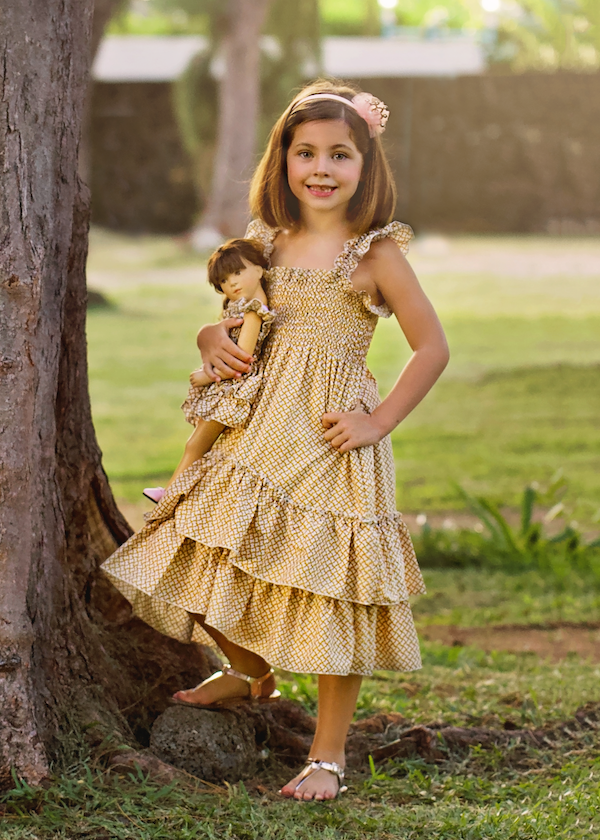 Angel dress - Sunflower Girl size 4, 6, 8