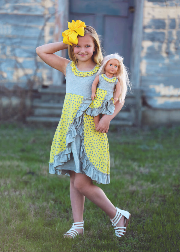 Anna dress - Lemon Sorbet size 4, 6, 8, 10, 12
