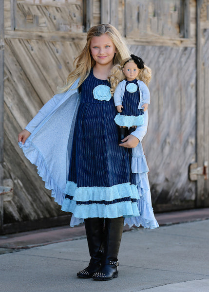 Rosie dress - Turquoise Roses size 4, 6, 8, 10, 12