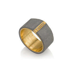 Bright Line Gold Ring