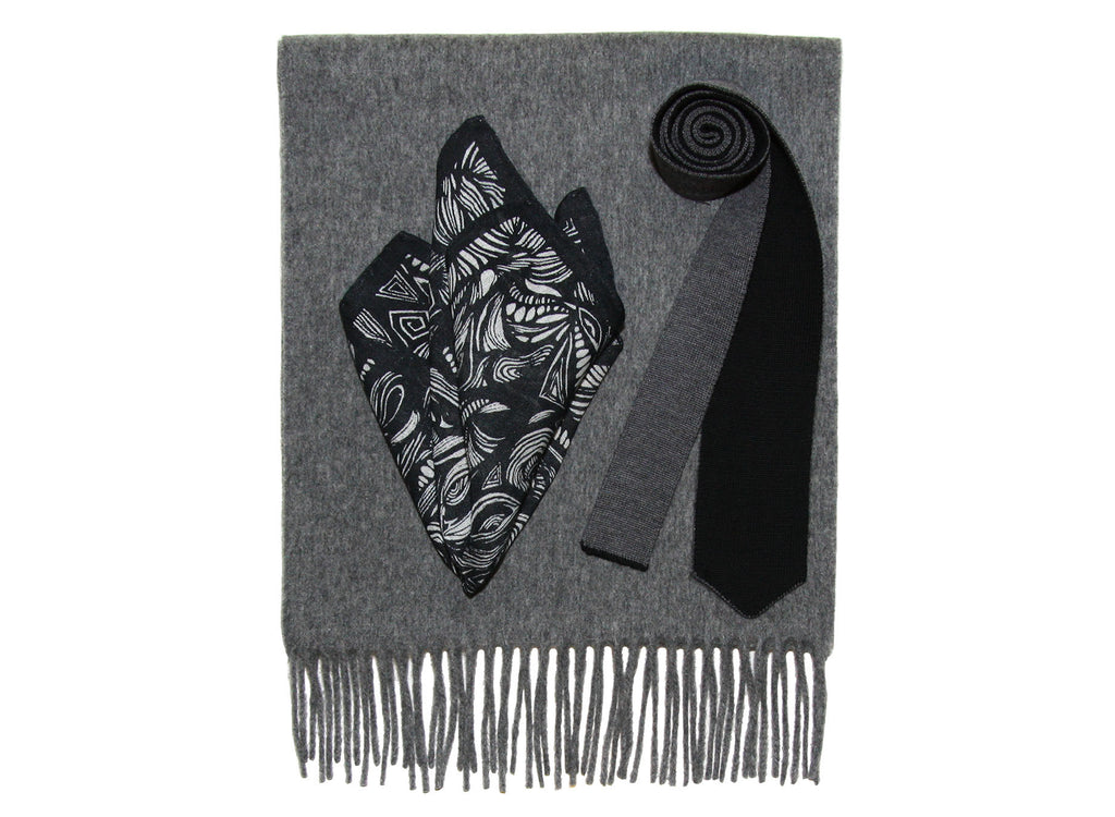 SCARF BASS GREY