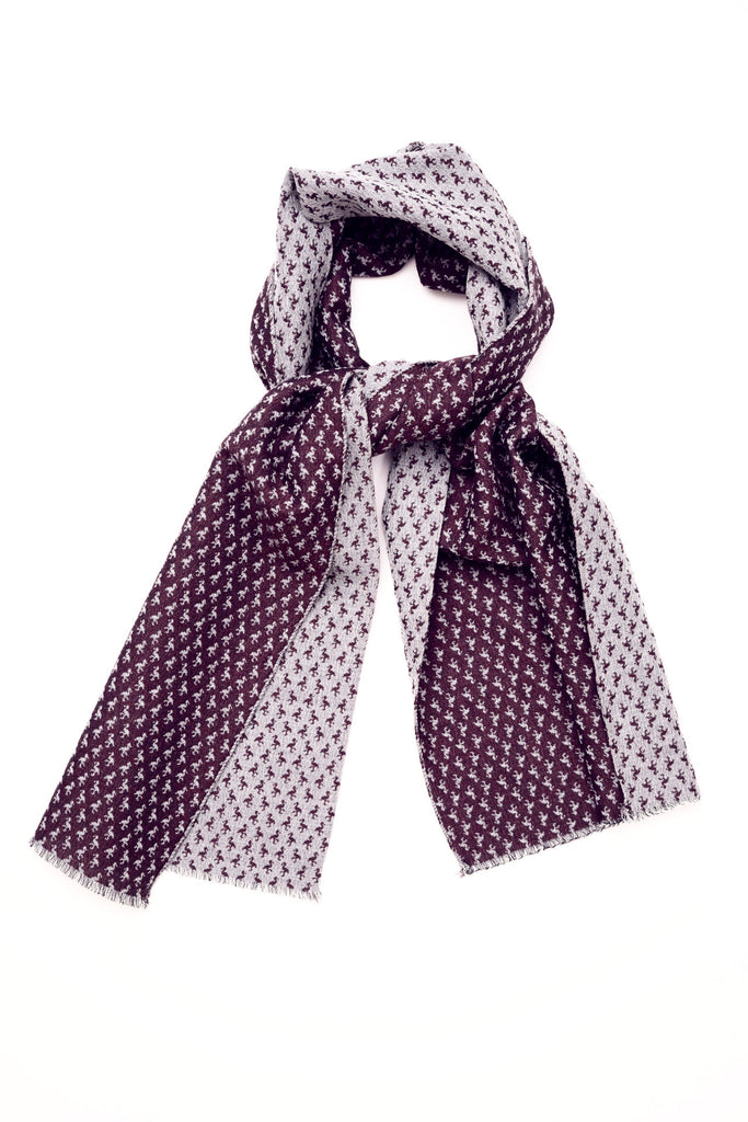 SCARF BIRD JACQUARD WINE