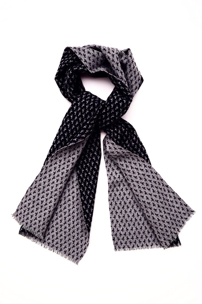 SCARF BIRD JACQUARD BLACK
