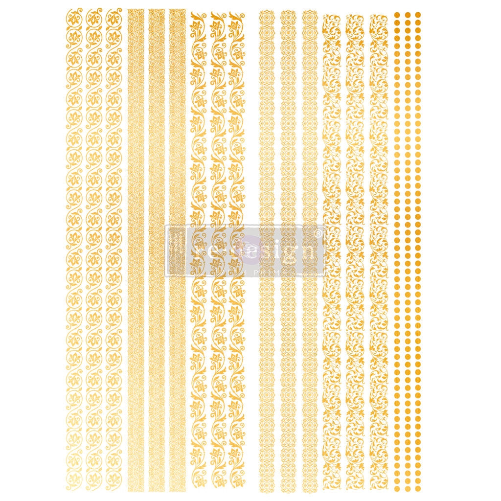 Gilded Inlay Scrolls - Gold Transfer (Prima Re-design) - Granny B's Old Fashioned Paint